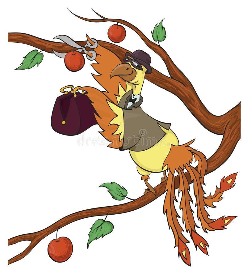 Stjäla äpplen vektor illustrationer