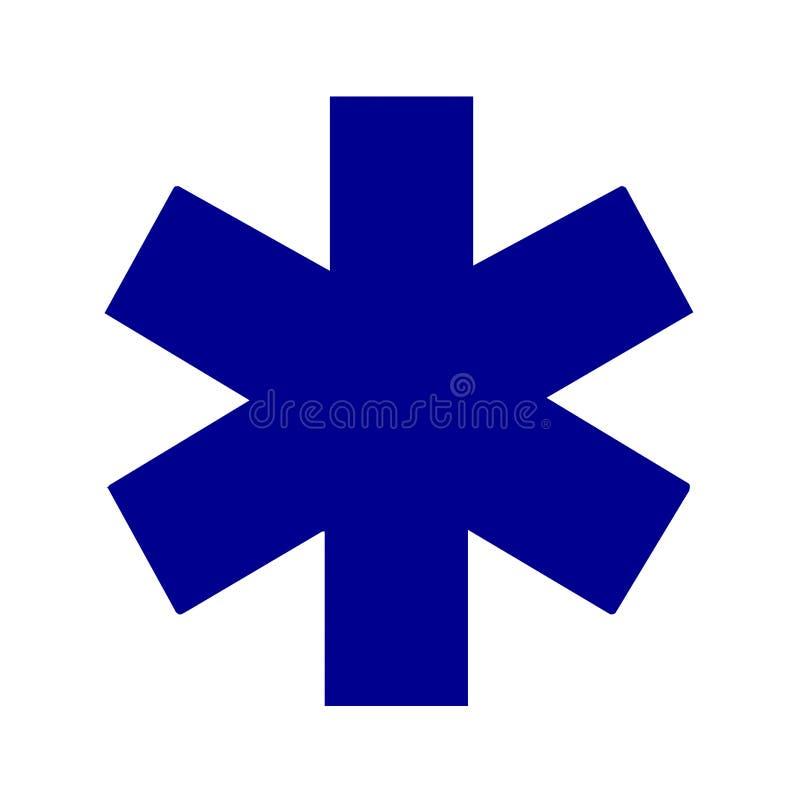 Stjärna av det medicinska symbolet för liv royaltyfri illustrationer