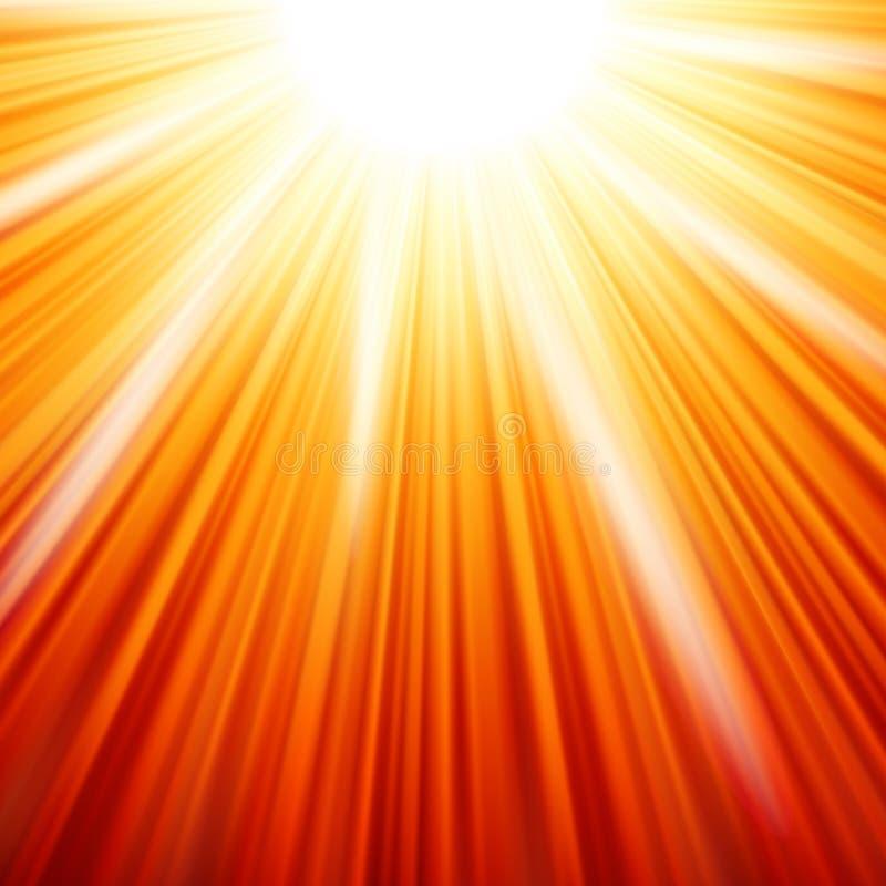 Stjärna brusten röd och gul brand. EPS 10 royaltyfri illustrationer