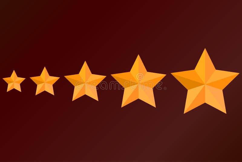 stjärna elit, epåletter, status vektor En uppsättning av olika format stock illustrationer