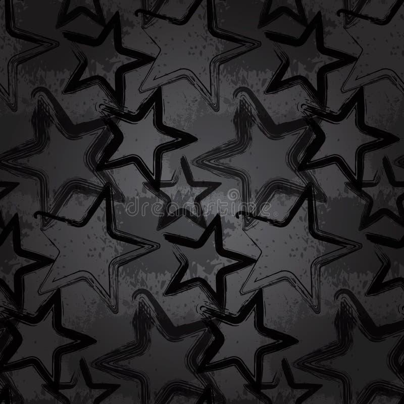 stjärna för bakgrundsgrungerock stock illustrationer