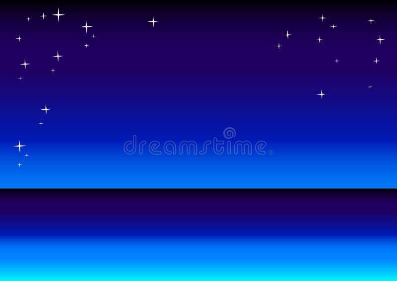 stjärna för bakgrundshavssky vektor illustrationer