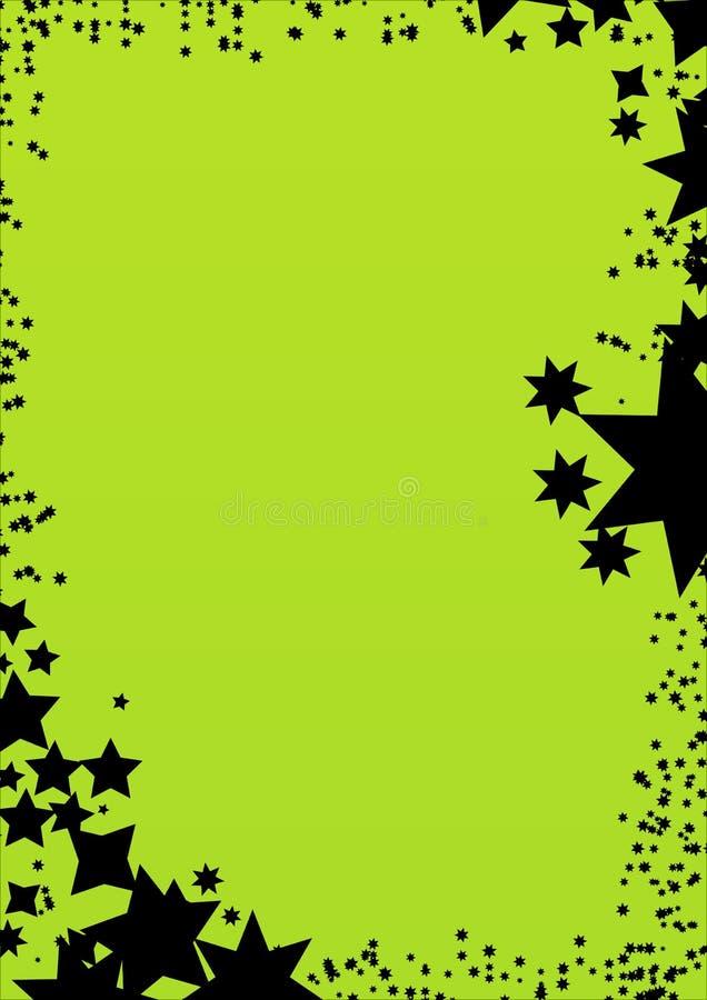 stjärna för bakgrundsramgreen royaltyfri bild
