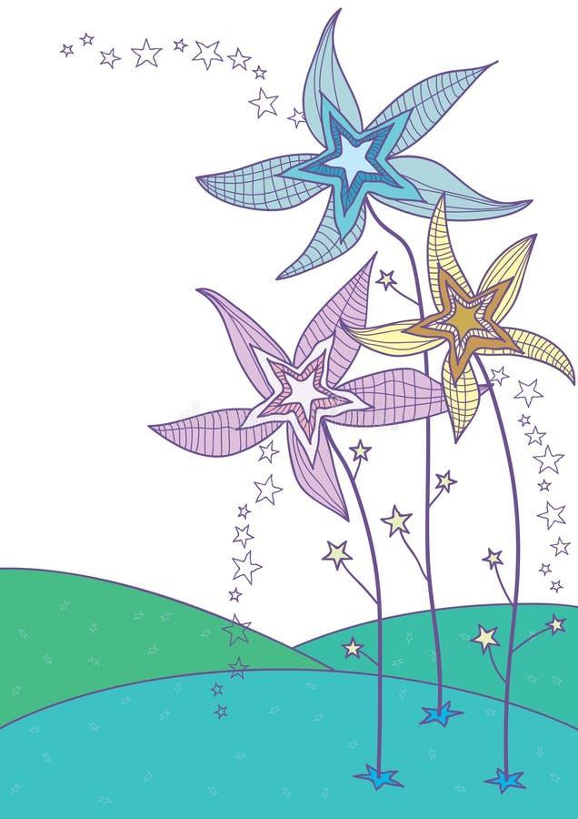 stjärna för eps-blommaland stock illustrationer