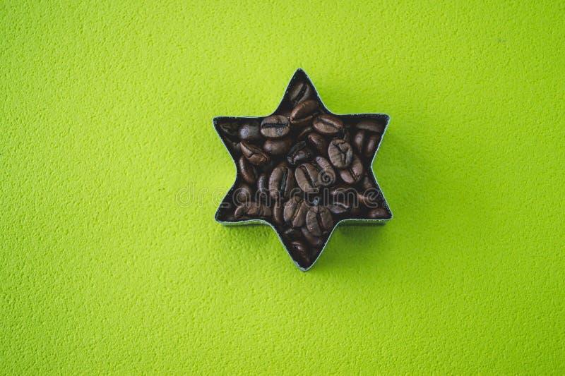 Stjärna för kaffebönor arkivbilder
