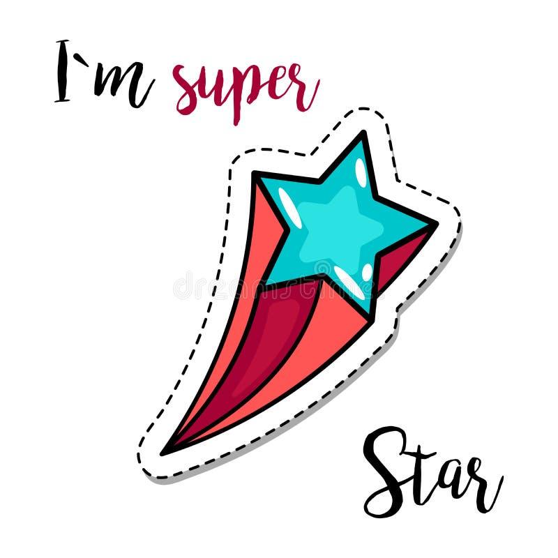 Stjärna för modelappbeståndsdel stock illustrationer