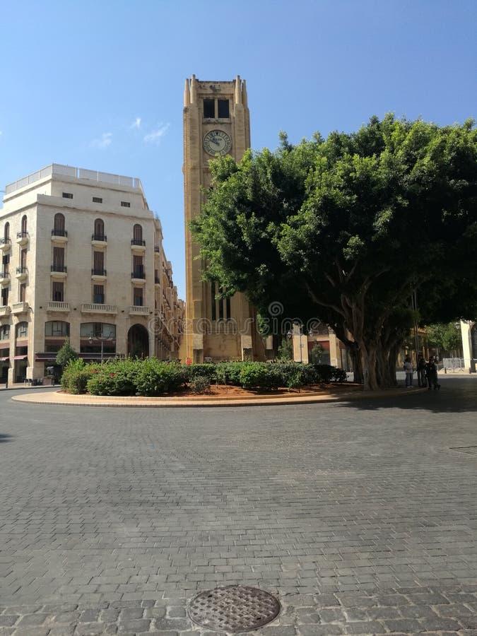 stjärna fyrkantiga Beirut royaltyfria foton