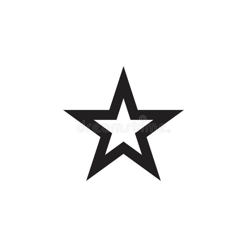 Stjärna Logo Vector Template Design Illustration royaltyfri illustrationer