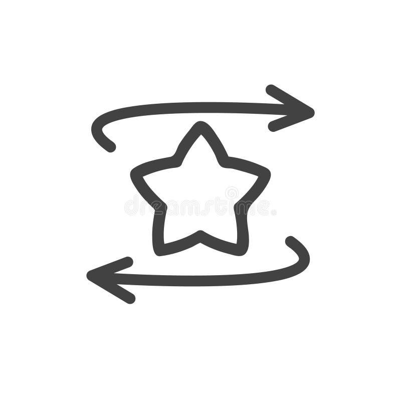 Stjärna med symbolen för pilöversiktsvektor röstning för upplösning för mus för bild för pilbegreppsutvärdering hög Plant designs stock illustrationer