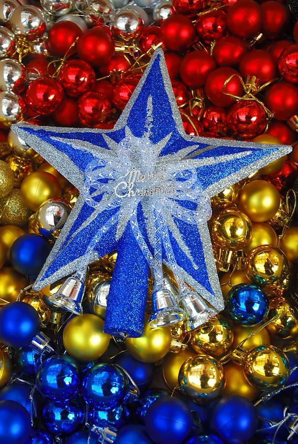Stjärna och bollar royaltyfria bilder