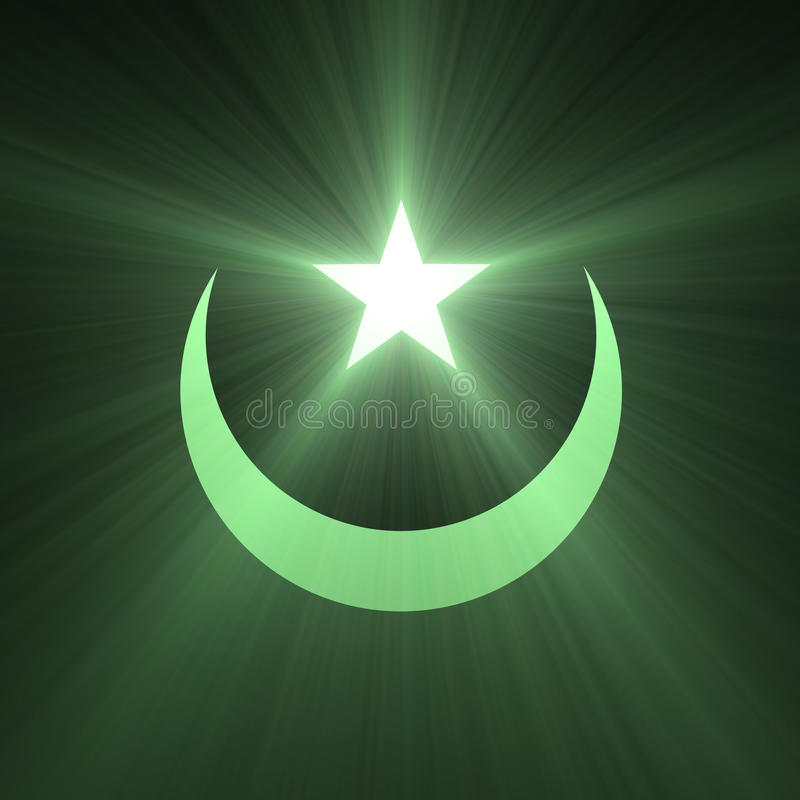 Stjärna- och måneklarteckensignalljus royaltyfri illustrationer