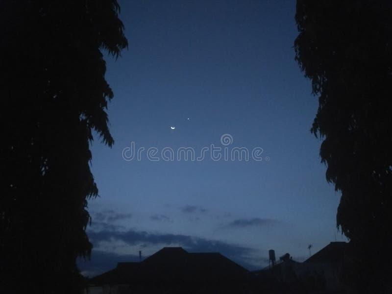 Stjärna och moon royaltyfri bild