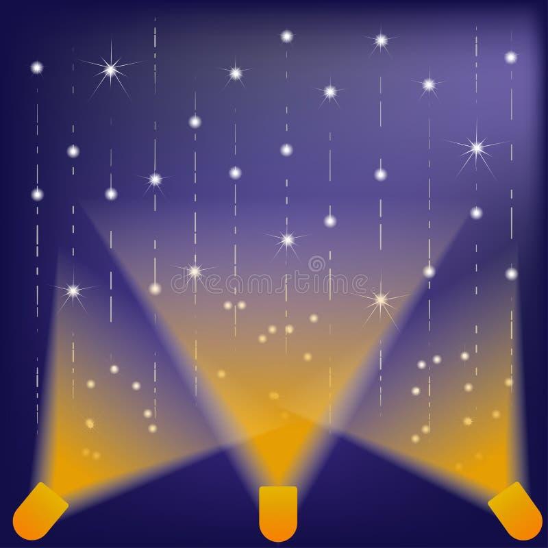 Stjärna på etappljus arkivfoton