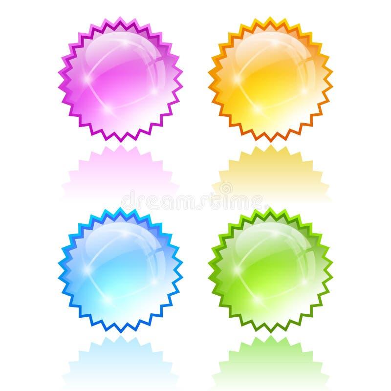 Stjärna som brister symbolen royaltyfri illustrationer