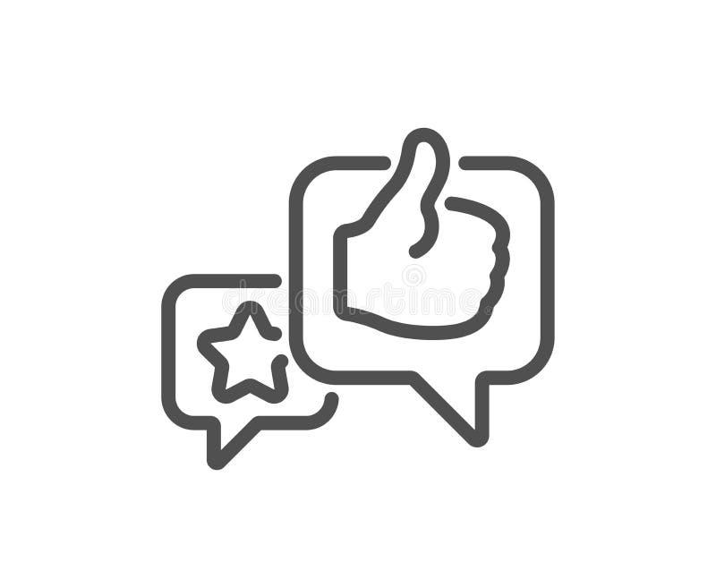 Stjärna som handlinjen symbol Återkopplingsvärderingstecken vektor royaltyfri illustrationer