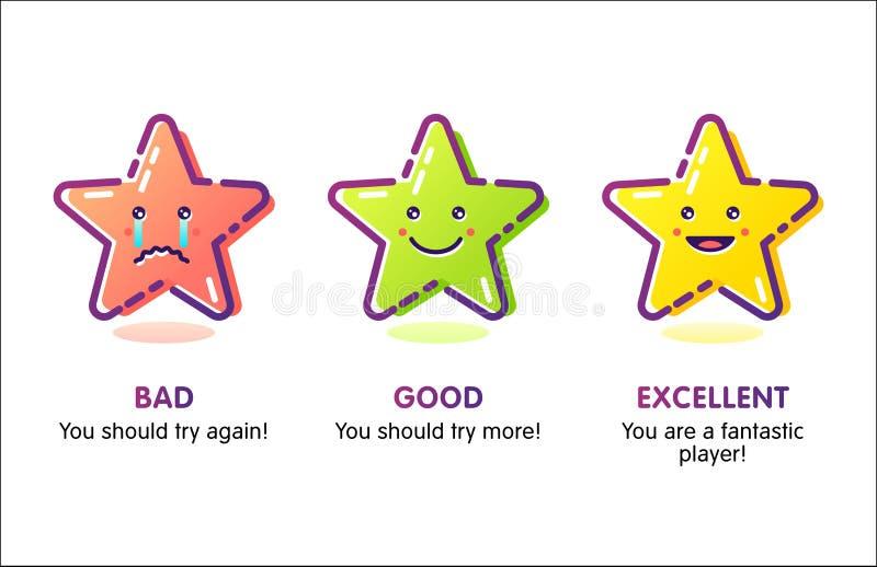Stjärna-symboler kopia royaltyfri illustrationer