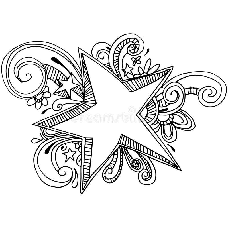 Stjärna Zen Background royaltyfri illustrationer