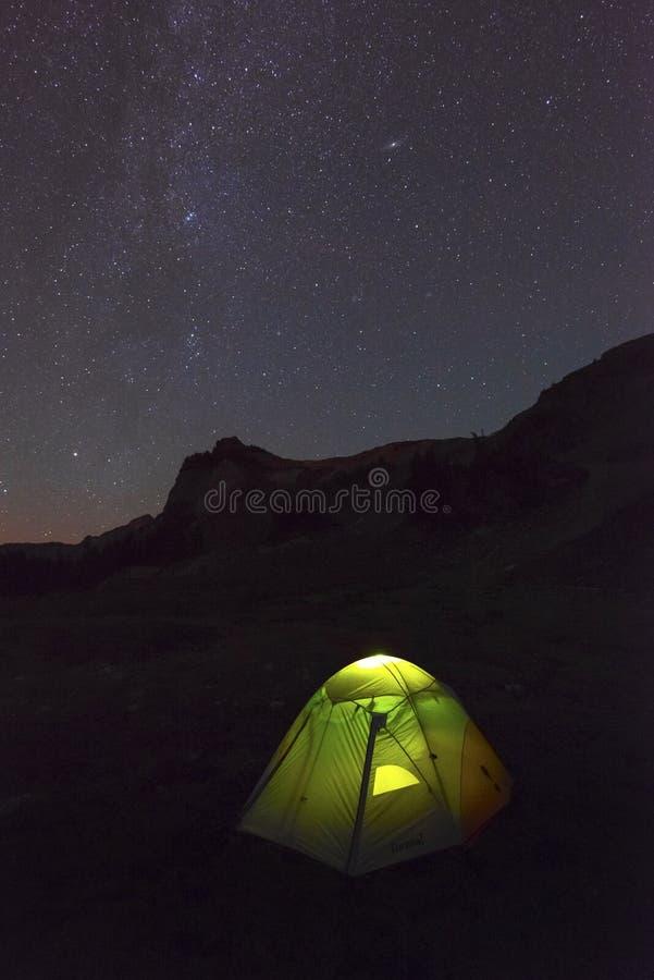 Stjärnaberglandskap Stillahavs- nordvästliga Washington State royaltyfri foto