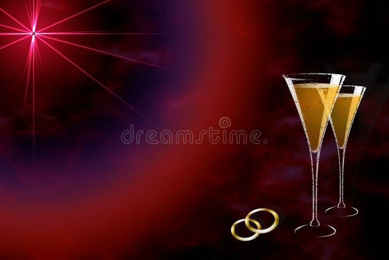 stjärnabröllop royaltyfri illustrationer