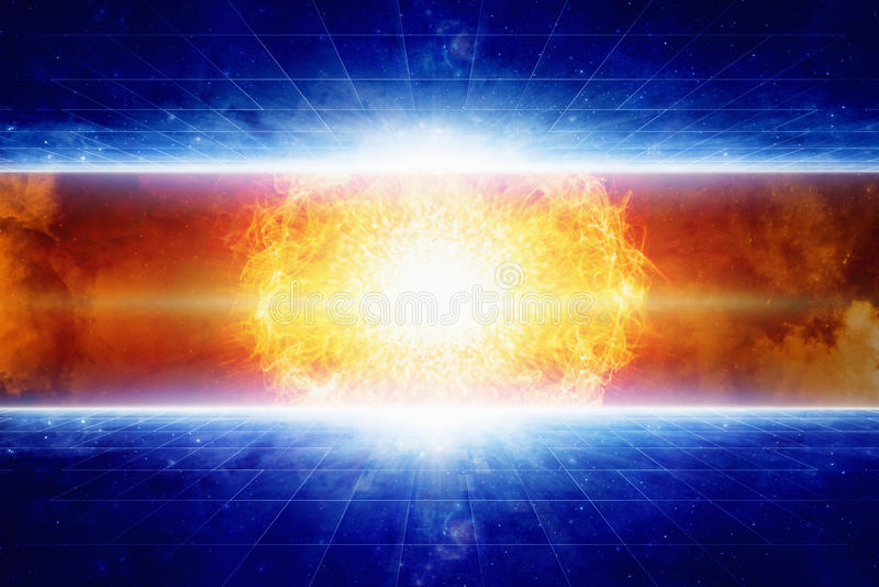 Stjärnaexplosion arkivbilder