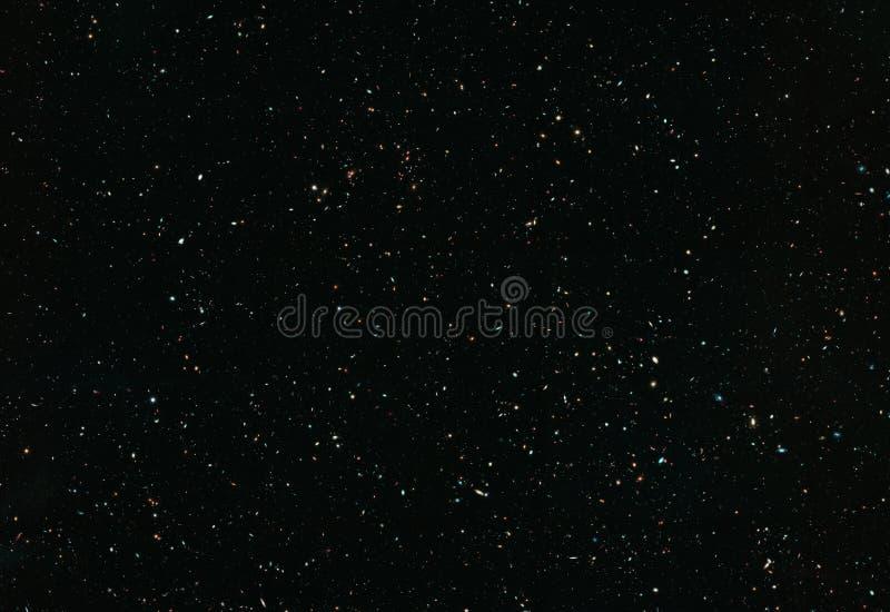 Stjärnafält med galaxer och konstellationer avstånd arkivbilder