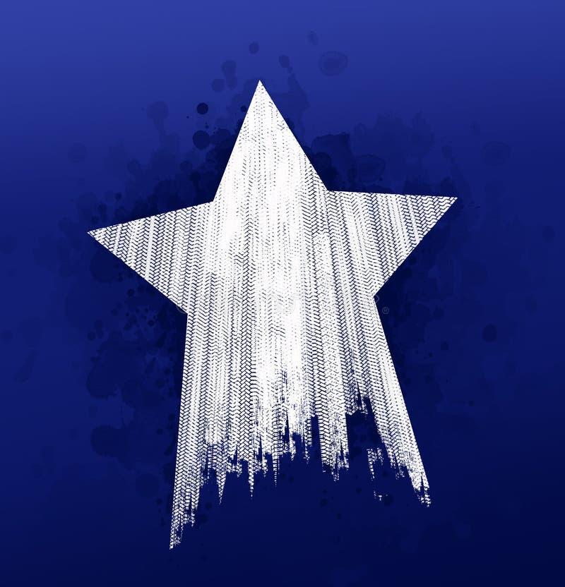 Stjärnagummihjulfläckar royaltyfri illustrationer
