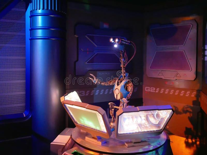 Stjärnakrig turnerar dragningen på den Disneyland funfairen royaltyfria foton