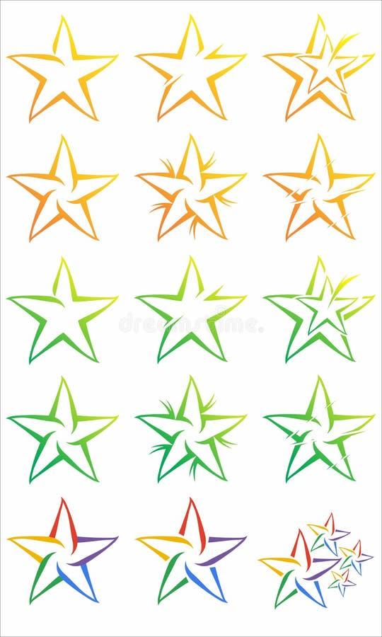 Stjärnalogo royaltyfri bild
