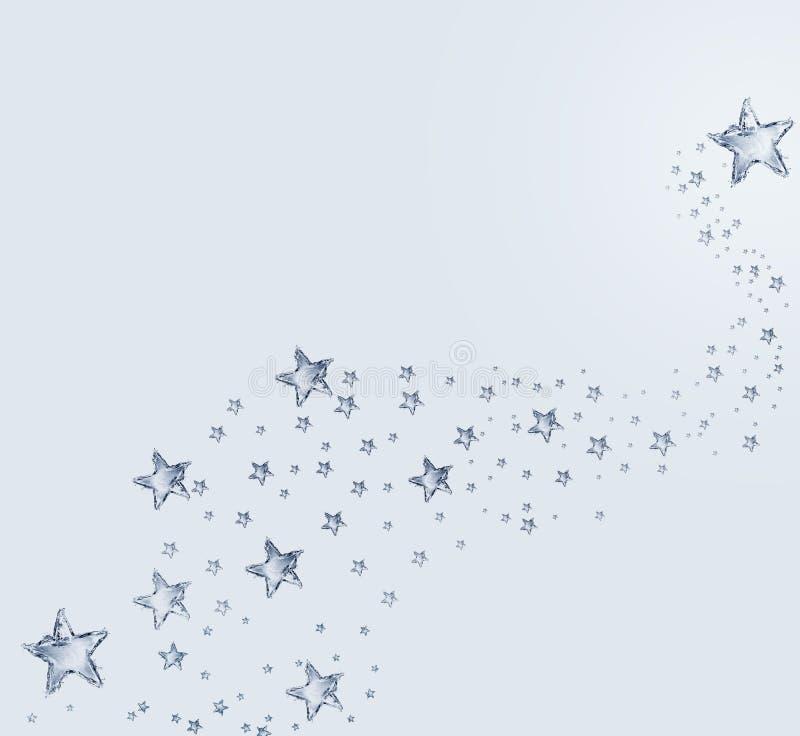 Stjärnamodell för blått vatten arkivfoto