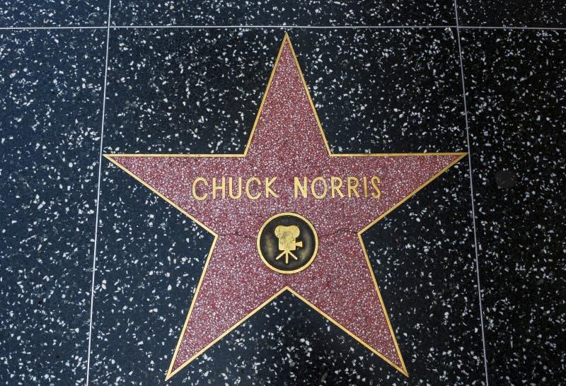 Stjärnan för Chuck Norris ` s, Hollywood går av berömmelse - Augusti 11th, 2017 - den Hollywood boulevarden, Los Angeles, Kalifor arkivfoto