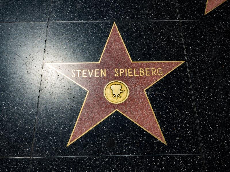 Stjärnan för Steven Spielberg ` s, Hollywood går av berömmelse - Augusti 11th, 2017 - den Hollywood boulevarden, Los Angeles, Kal royaltyfri bild