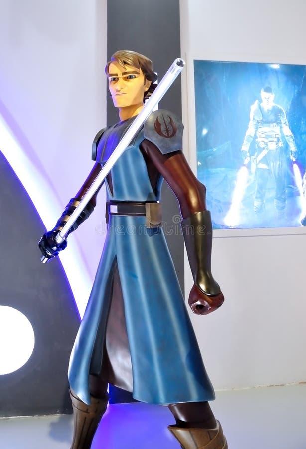 Stjärnan kriger: Klon Kriger-Anakin Skywalker arkivfoto