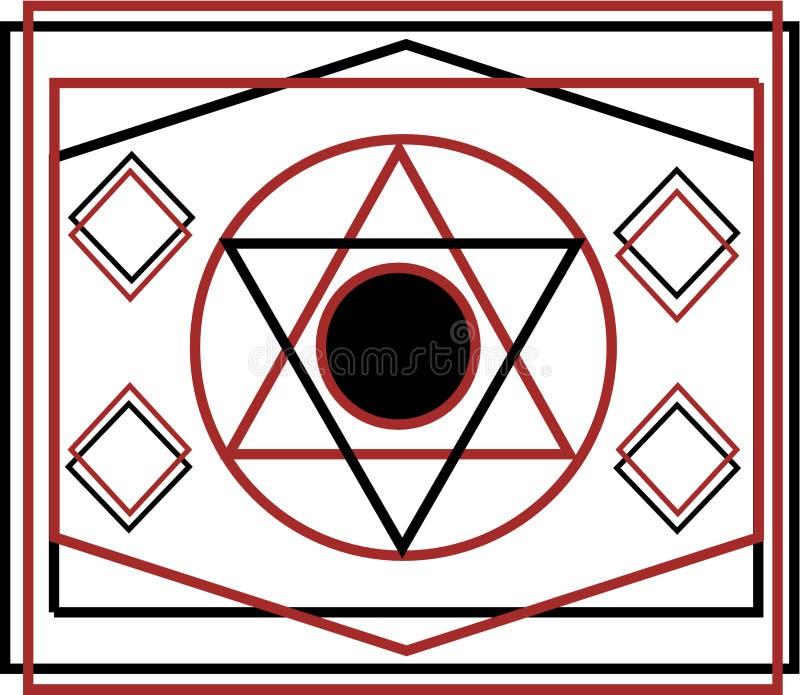 Stjärnan markerar logoen för olje- gas royaltyfri illustrationer