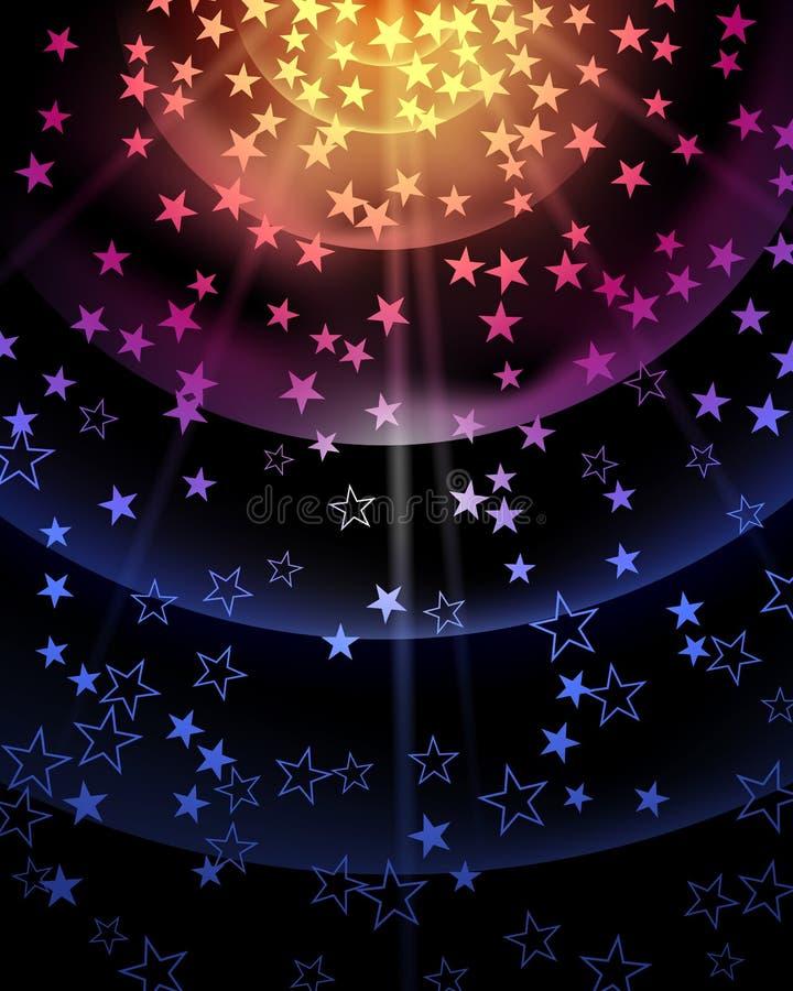 Stjärnapartibakgrund stock illustrationer