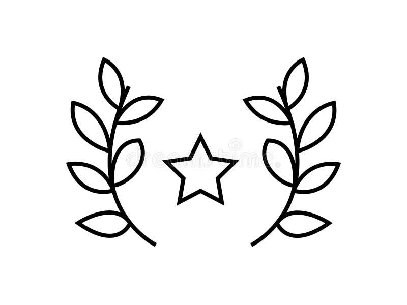 Stjärnapriset lämnar symbol royaltyfri illustrationer