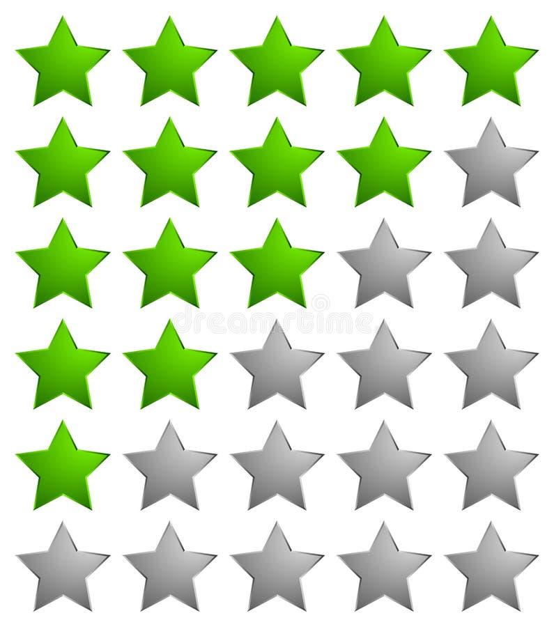 Stjärnarankningssystemsymbol/färgrik stjärnadesignbeståndsdel för revie royaltyfri illustrationer