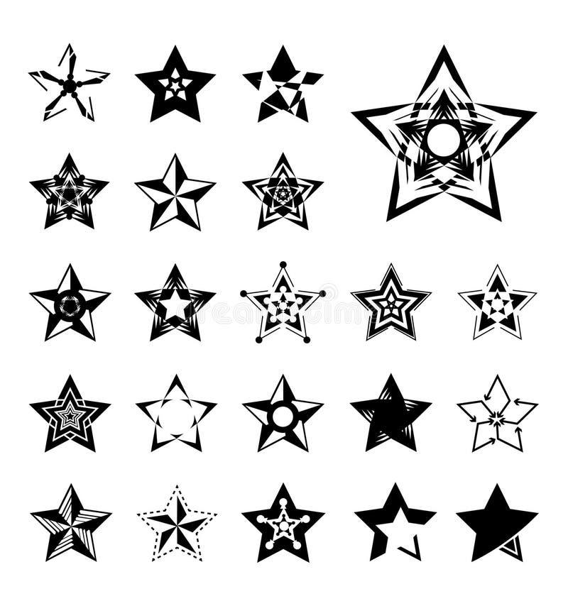 Stjärnasymboler stock illustrationer