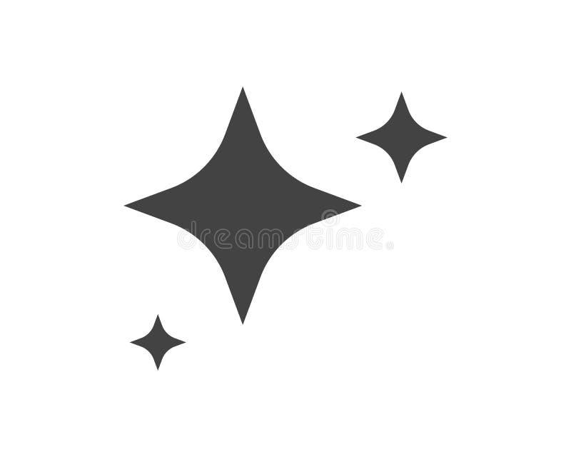 Stjärnasymbolsmall royaltyfri illustrationer