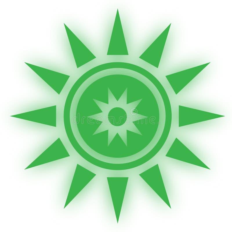 Stjärnasymbolssymbool Glansig stjärna formade rengöringsdukklistermärkear Beståndsdelstil för chakrameditation stock illustrationer