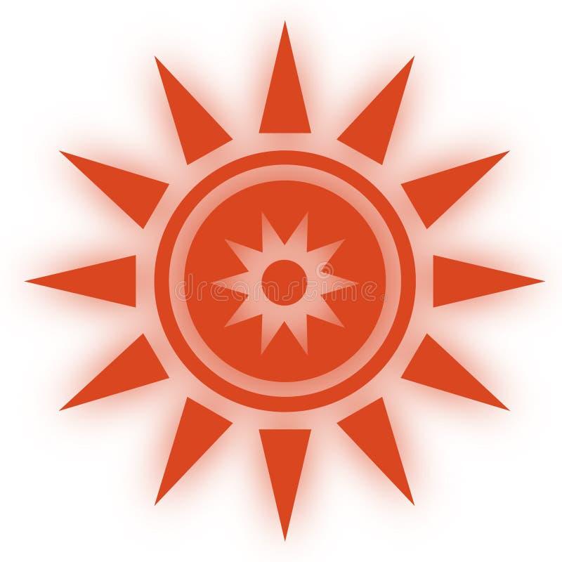 Stjärnasymbolssymbool Glansig stjärna formade rengöringsdukklistermärkear Beståndsdelstil för chakrameditation royaltyfri illustrationer
