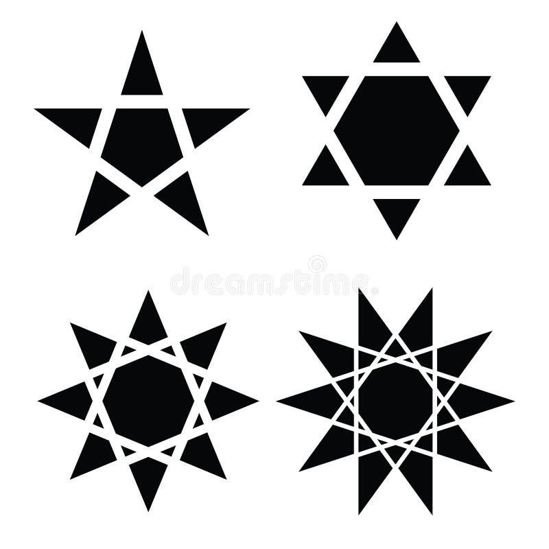 Stjärnasymbolvektor royaltyfri illustrationer