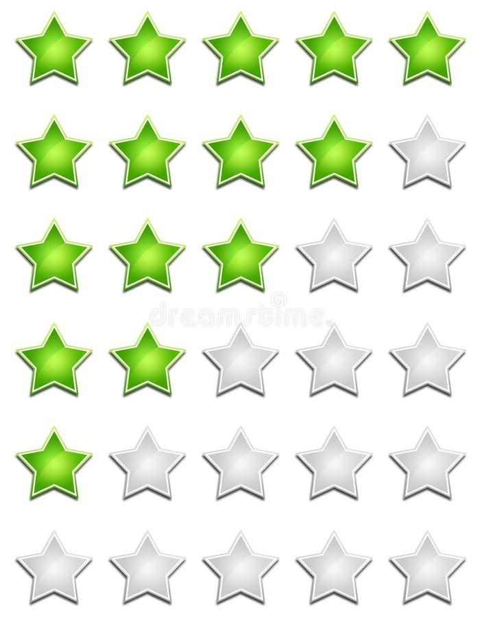 Stjärnavärderingstecken royaltyfria bilder