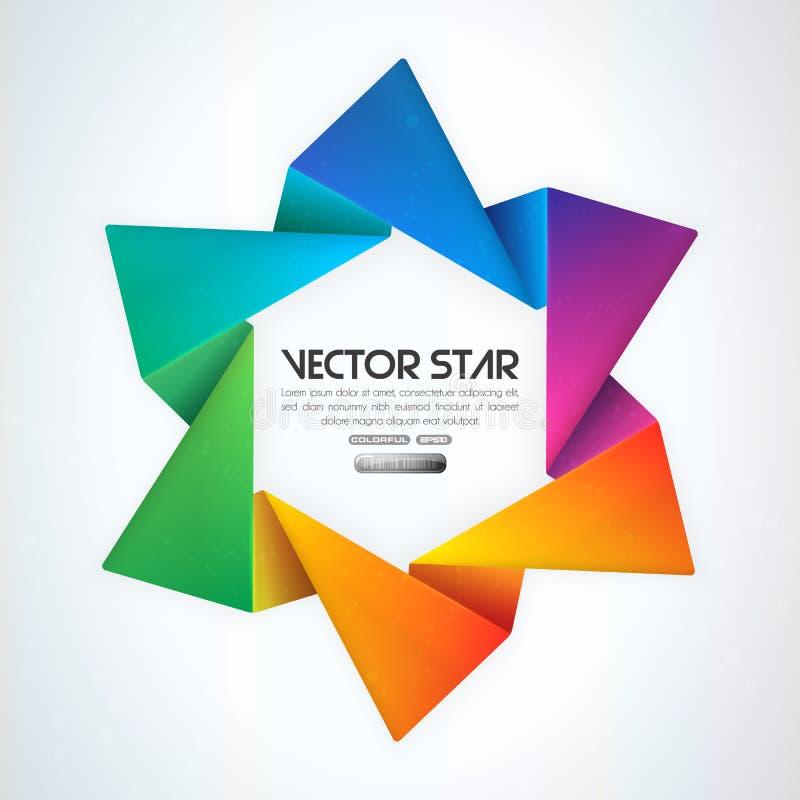 stjärnavektor vektor illustrationer