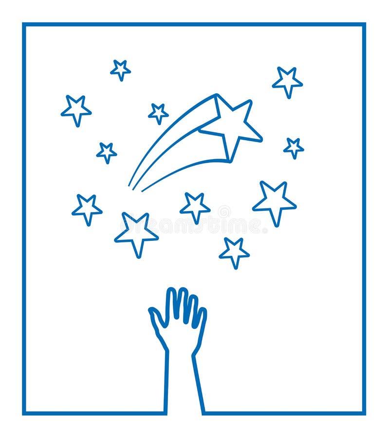 stjärnavektor royaltyfri illustrationer