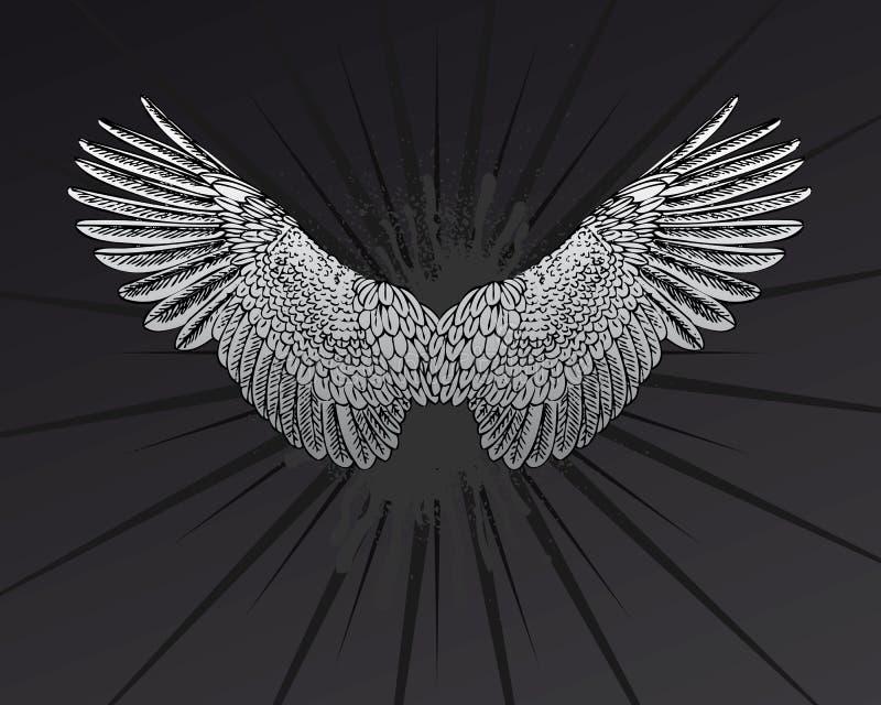 stjärnavingar royaltyfri illustrationer