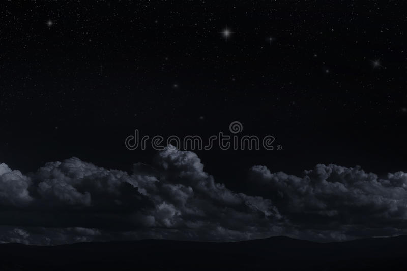 Stjärnklar himmel för natt arkivfoton