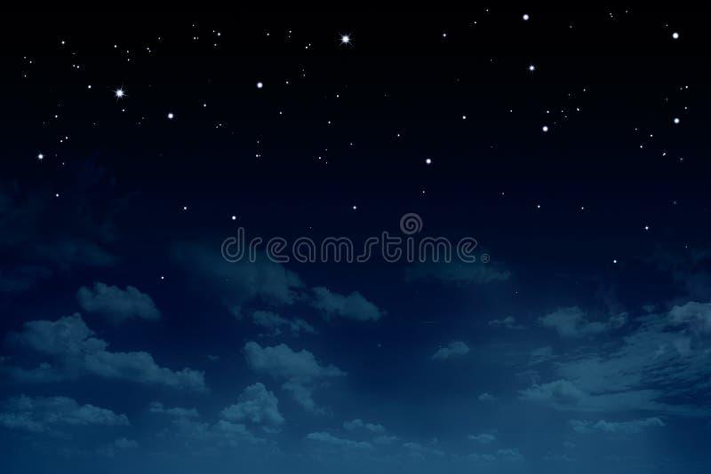 Stjärnklar himmel för natt, abstrakt bakgrund royaltyfria bilder