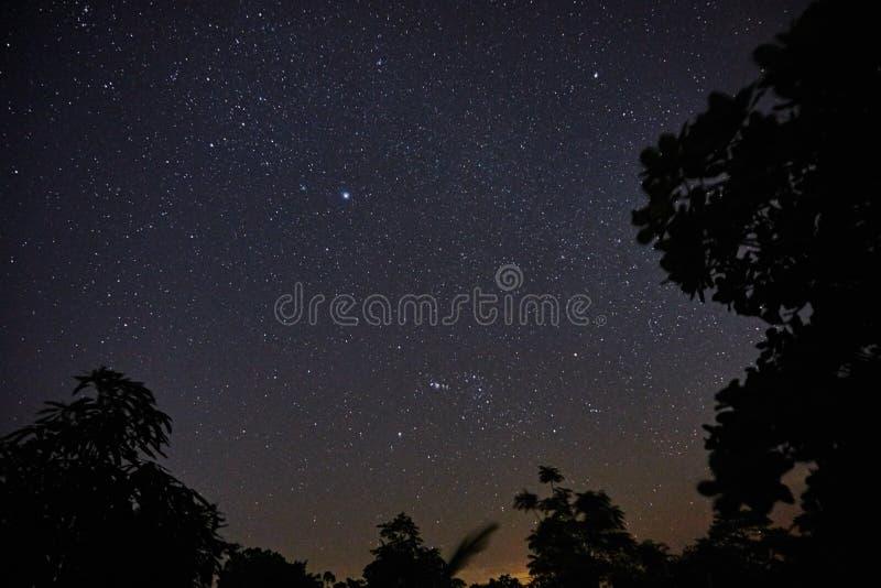Stjärnklar himmel i Feira de Santana, Bahia, Brasilien royaltyfria bilder