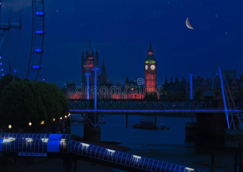 Stjärnklar natt stora ben royaltyfri foto
