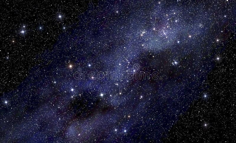 Stjärnklar utrymmebakgrund vektor illustrationer